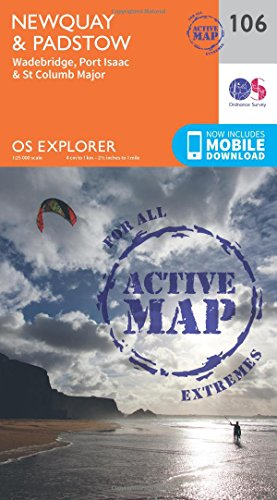 Newquay and Padstow (OS Explorer Active Map)