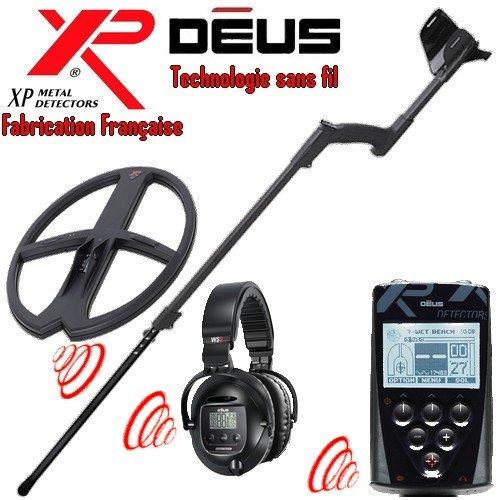 Metal Detectors Xp-Detector De metales Deus Full 6-Tecnología inalámbrica con mando a distancia-Auriculares Ws5 Disco-Dd 34 x 28 Cm, incluye protector para ...