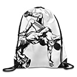 Unisex Amateur Wrestling Large Water Resistant String Beach Holidays Teamsport Formation Tote Storage Gymsack Gym Drawstring Bags Sackpack Use