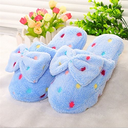 Bowknot Blue Shoes Sky Bedroom On Sliders Home Women Flat Woopower Slippers Slip EZBqwT1x