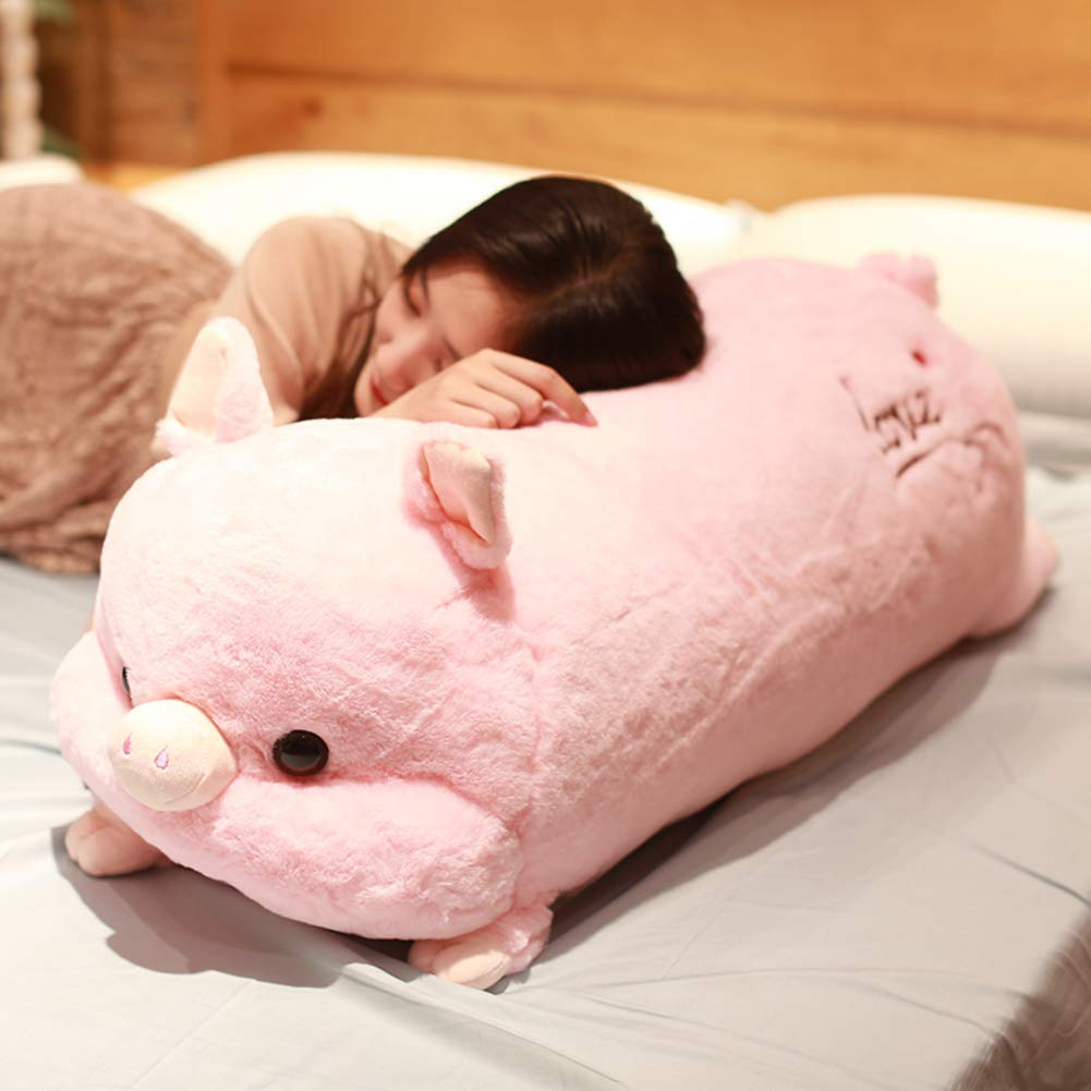 L&WB Super Weiches Plush Toy Big Doll Cute Sleeping Kissen Zu Hause Dekoriert Komfortable Stuffed Animals,90Cm