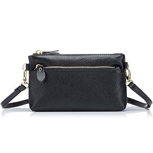 Aladin Small Leather Crossbody Bag/Wristlet Purse 2 In 1 Handbag for Women Teen Girls
