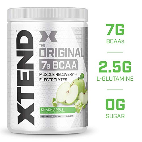 XTEND Original BCAA Powder Smash Apple | Sugar Free Post Workout Muscle Recovery Drink with Amino Acids | 7g BCAAs for Men & Women| 30 Servings
