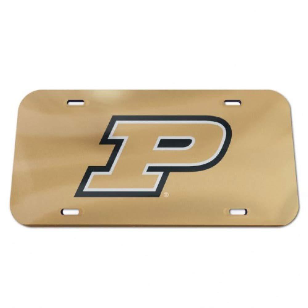 NCAA Purdue Boilermakers Logo Crystal Mirror License Plate