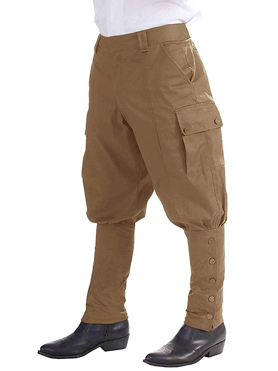 Victorian Men's Costumes: Mad Hatter, Rhet Butler, Willy Wonka Mens Medieval Renaissance Pants Steampunk Victorian Viking Costume Cosplay Navigator Gothic Trousers $26.98 AT vintagedancer.com