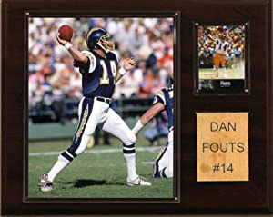 NFL Dan Fouts San Diego Chargers Player Plaque