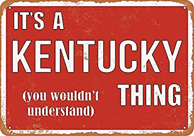 FemiaD Vintage Look Metal Sign 12 x 16 - It's a Kentucky Thing