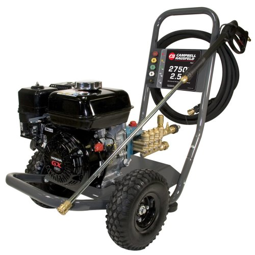 Campbell Hausfeld Pressure Washer, 2750 PSI 2.5GPM Triplex Pump GX160 Honda (PW2770) by Campbell Hausfeld
