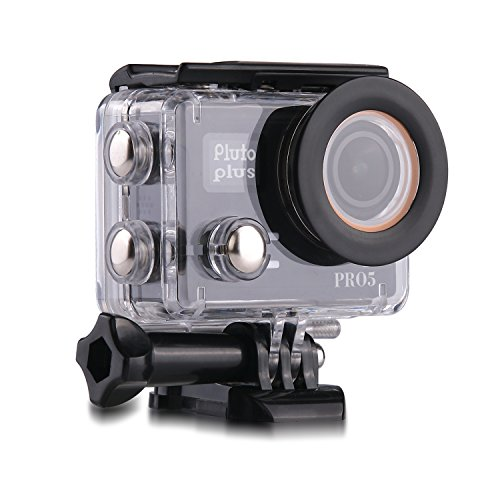 Pluto Plus Pro5 30.0 MP 4K Ultra HD Waterproof Action Camera with External Mic Output 3.5mm