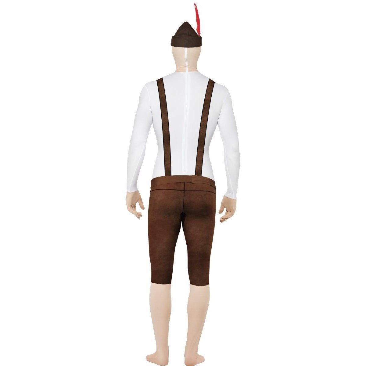 Smiffys bávaro segunda piel traje con sombrero/Bumbag/oculta Mosca ...