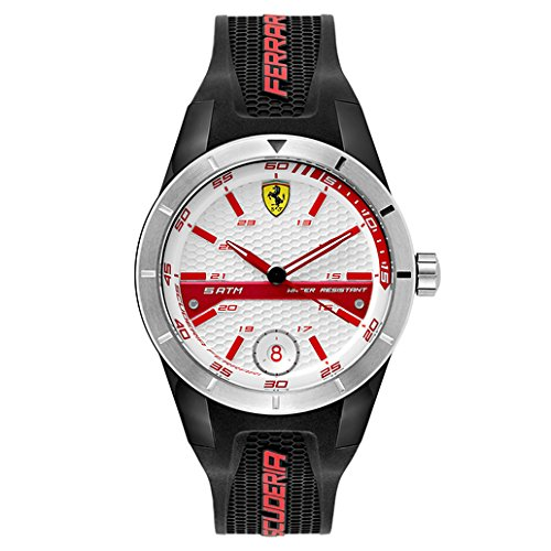Ferrari Men's 0830250 REDREV T Analog Display Quartz Black Watch