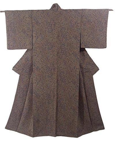 ベイビー槍谷リサイクル 着物 小紋 更紗模様 正絹 袷 裄61cm 身丈156cm
