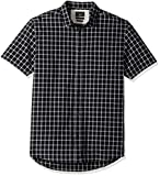 Quiksilver Men's Everyday Check Short Sleeve Button Down Shirt, Black Everyday, 2XL