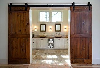 Amazon Unionline 13 Ft American Style Sliding Wood Barn Door