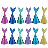 Joinor 12pcs Super Glitter Creative Handmade DIY Mermaid Tail Party Hats Coming with Ropes