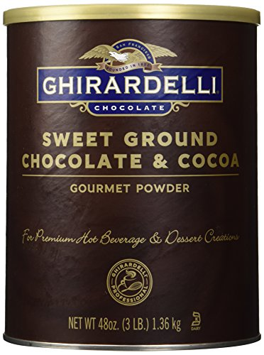 - Ghirardelli Chocolate Sweet Ground Chocolate & Cocoa Beverage Mix, 48 oz Canister