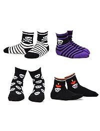 TeeHee Halloween Kids Cotton Fun Crew Socks 4-Pair Pack