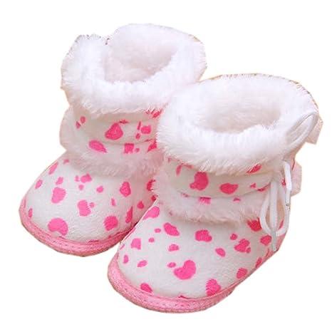 ab1c90136bde8 Chaussures de bébé unisexe chaud hiver Chaussures pour tout-petit Chaussures  de marche pour bébés