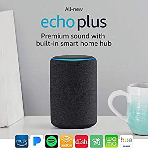 All-new Echo Plus (2nd gen) – Premium sound with built-in smart home hub - Charcoal
