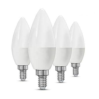 ctkcom 4-Pack – Candelabro led bombillas 3 W, 40watt luz bombillas equivalentes E14