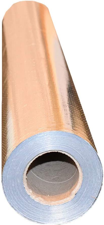 1000 Sqft Reflective Nasa Radiant Barrier Attic Foil Insulation 17 Perforated Amazon Com