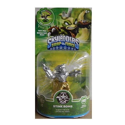 Skylanders SWAP Force Stink Bomb SILVER and GOLD Metallic Variant by