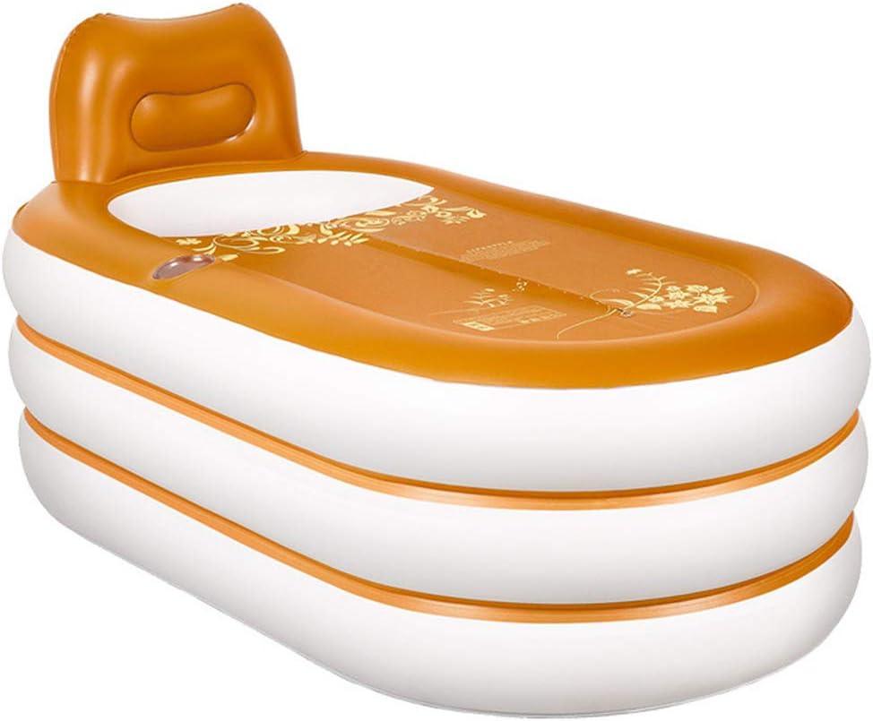 RDYL Inflable de Estilo Europeo baño de balde baño Plegable para Adultos Dicker Isolierbadkübel PVC bañera de plástico para Adultos con Almohadas Cuello y Piscina Infantil