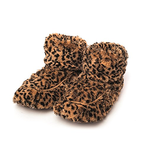 Greenlife Warmies Cozy Plush Lavande Parfumée Chaussons au micro-ondes Fourrure Fauve Bottes