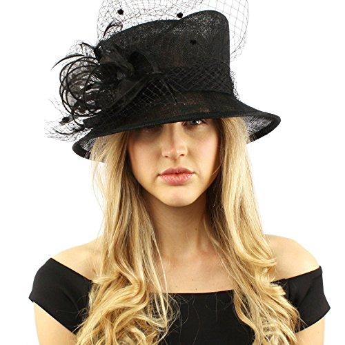 Victorian Netted Bucket Cloche Dress Hat
