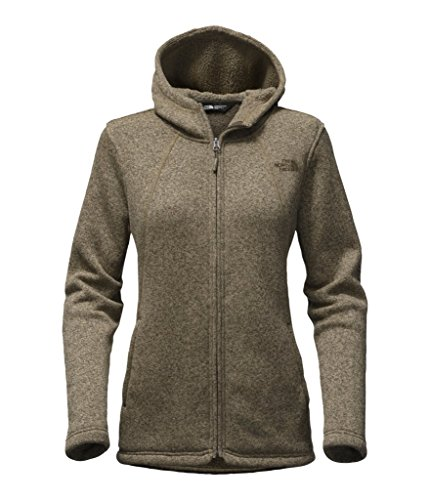 The North Face Women's Crescent Full Zip Hoodie - New Taupe Green Heather - XL (Past Season) by The North Face