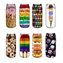 Zmart 8 Pack Women's Girl 3D Sweet Food Dessert Funny Crazy Novelty Socks,Candies-8 Pack,US 5-9