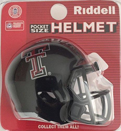 Riddell Texas TECH RED Raiders NCAA Football Helmet Christmas Tree DIY Ornament