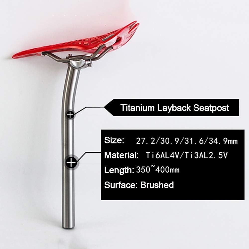 31.6  x 350 400 mm Bike Ti seat tube Bicycle Titanium Balance Seatpost 27.2