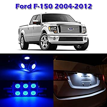 partsam ford f150 blue interior light led package kit with tool