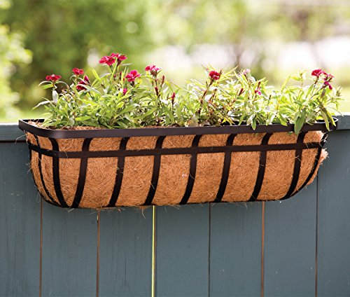 "Panacea Products Flat Iron Series 30-inch (30"") Window/Deck Planter, Black"