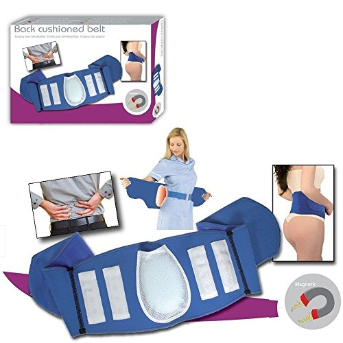 Magnetic Blue Lumbar Back Support Belt 16 Magnets Cushion Lower Back Pain Brace (Magnetic Lower Back Support Belt)