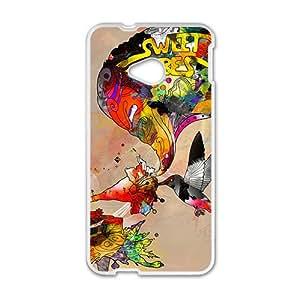 Warm-Dog Creative Graffiti Pattern Custom Protective Hard Phone Cae For HTC One M7