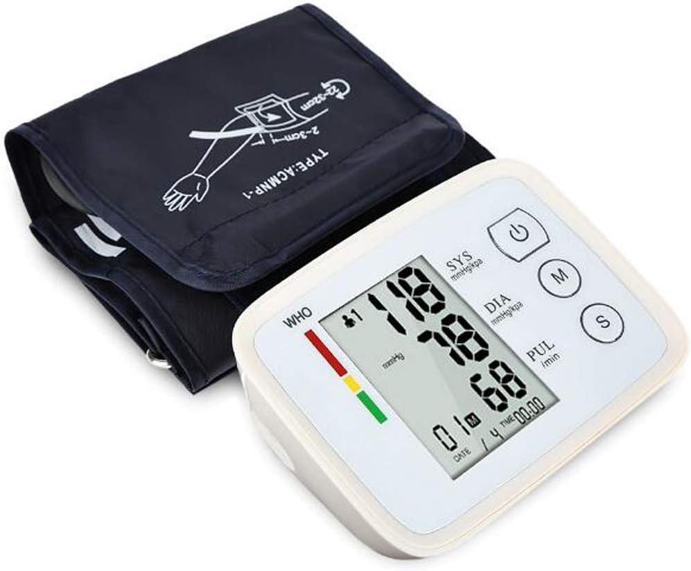 Máquina automática BP Digital Monitor de la presión Arterial del Brazo Superior Corazón Lata frecuencia de Pulso Medidor tonómetro para Uso doméstico con Pantalla LCD Grande