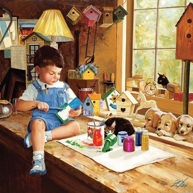 Masterpieces 71309 Donald Zolan Finishing Touches Puzzle, 1000 Pieces by MasterPieces