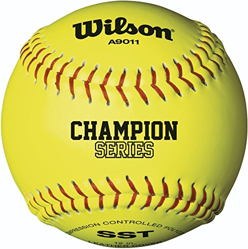 Wilson A9010 Collegiate Series Softball (12-Pack), 12-Inch, Optic Yellow by Wilson