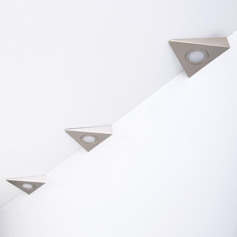 3er Set SO-TECH® LED Dreiecksleuchte Triangolo Triangolo Triangolo 12V   1,8W inkl. Netzgerät 220V   15W ohne Schalter 266d2e