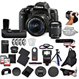 Canon EOS Rebel T6i DSLR Camera Bundle with EF-S 18-55mm Lens with Canon BG-E18 Battery Grip for EOS Rebel T6i & T6s + More
