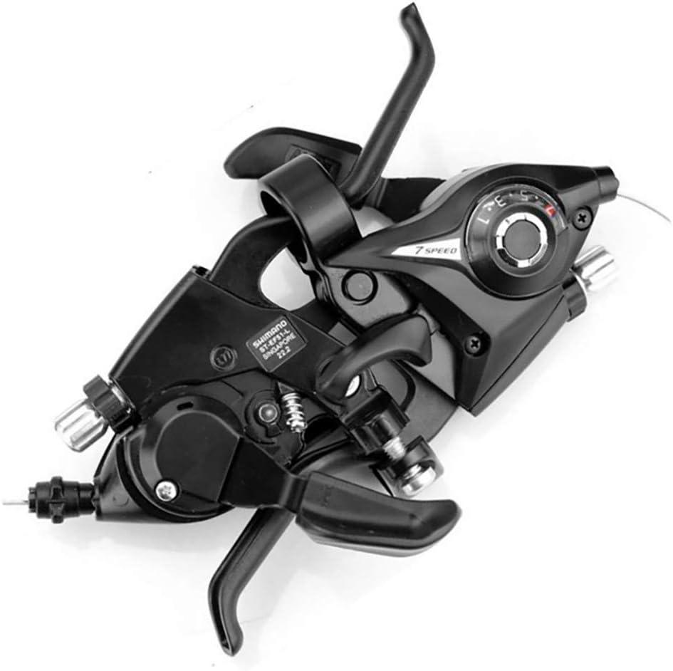 DEDC 1 Paio di Bici Elettrica EFP 2-7 3x7 21 velocit/à Professionale Cambio Leva Freno Destro Sinistro in Lega di Alluminio
