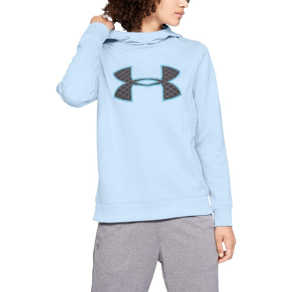 Under Armour Women's Synthetic Fleece Pullover, Halogen Blue (443)/Venetian Blue, XX-Large by Under Armour