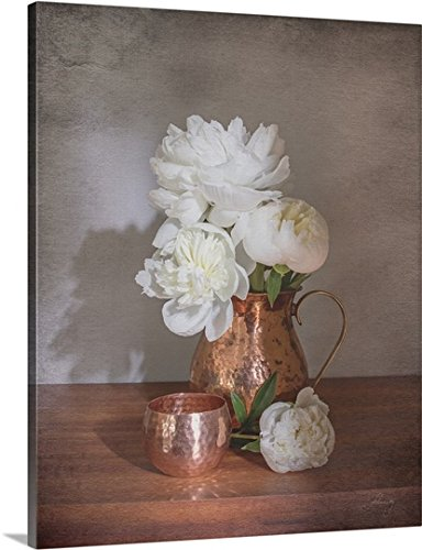 ry-Wrapped Canvas entitled Vintage Peony Dreams Shadows by Felicity Bradley 24