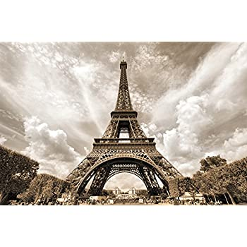Amazoncom Poster Eiffel Tower Mural Decoration France Capital City