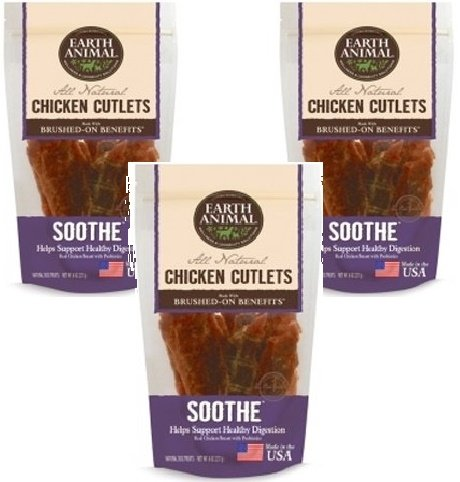 Earth Animal Soothe Treats 8oz Each (3 Pack)