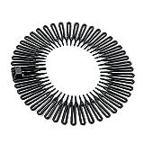 Pack of 1 Black Plastic Flexi Comb Zig Zag Sports Headband Hair Band