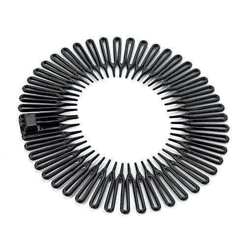 Black Plastic Flexi Sports Headband