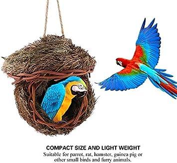 Sheens Vogelnest handgemachte gewebte Cedar Leaves Bird House Cage Bruth/öhle f/ür Papagei Haus Outdoor Yard Gartendekoration
